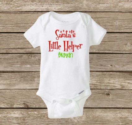 Christmas Onesie, Santa's Little Helper, Baby Christmas Onesie, Santa Claus, Baby First Christmas, Merry Christmas