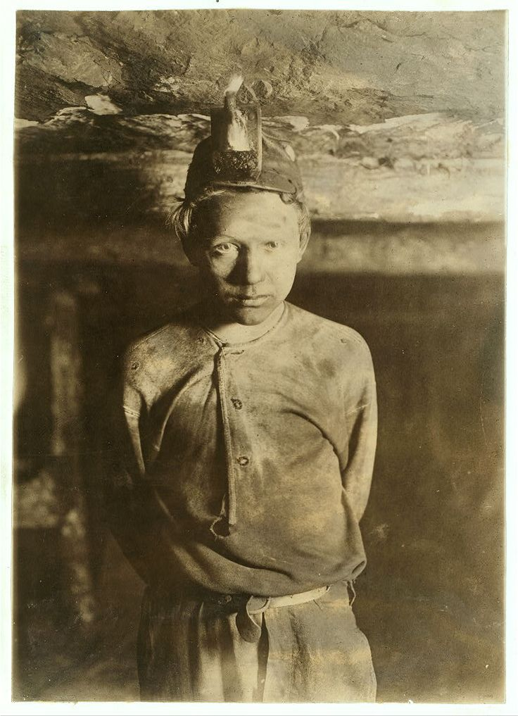 Coal mines. Child labor at coal and zinc mines in the United States. Lewis Hine