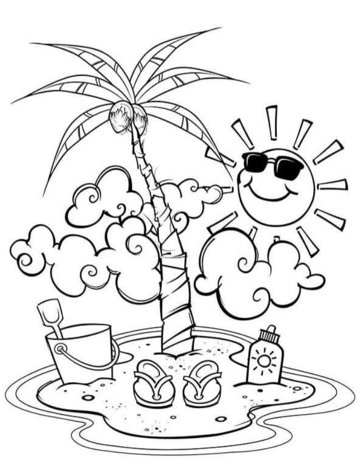 Pin Von Esteffany Toro Auf Dibujos Sommer Malvorlagen Wenn Du Mal Buch Ausmalbilder Sommer
