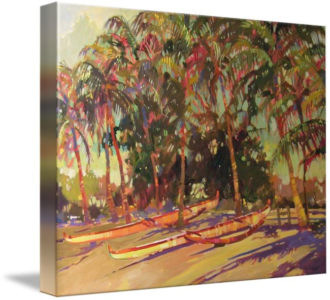 """""""In the Shadows"""" by Darrell Hill, hawaii // From Painting by artist Darrell Hill, © Darrell Hill // Imagekind.com -- Buy stunning fine art prints, framed prints and canvas prints directly from independent working artists and photographers."""
