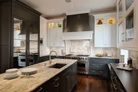 small kitchen remodel with dark and white cabinets - Google Search