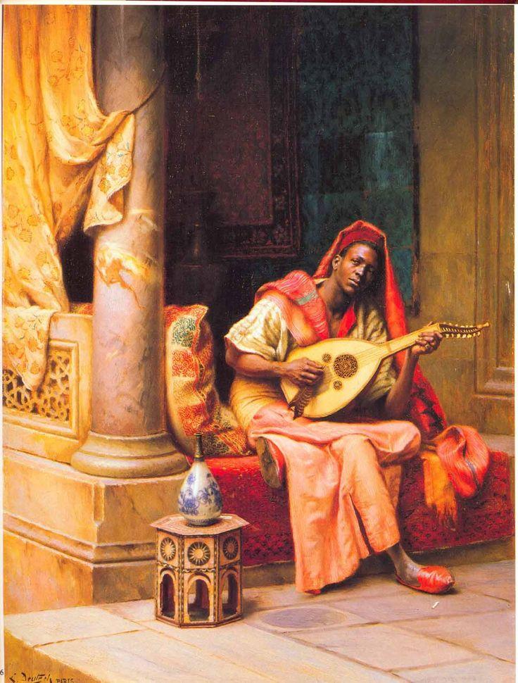 'Le musicien/ The musician' - Ludwig Deutsch (1855-1935)