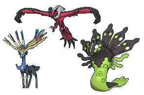Xerneas, Yveltal, and Zygarde   Pokemon   Pinterest