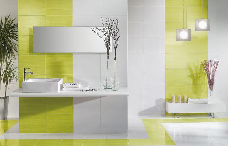Pavimentos y revestimiento verde en este caso pero con diferentes posibilidades de colores, para generar un ambiente vivo en nuestro baño.