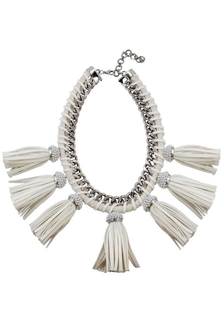 Lucinda Silver Fringe Necklace
