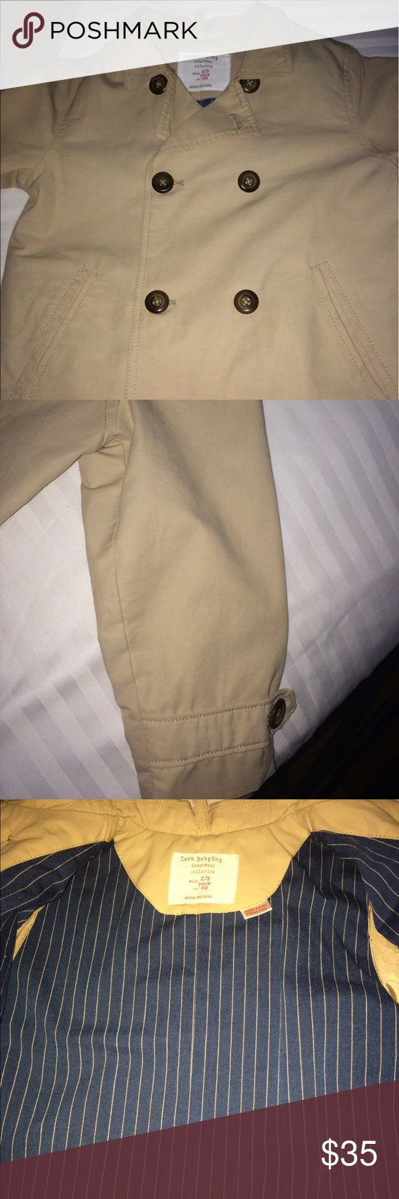 Tan Boys Trench Coat Perfect condition baby boys classic double breasted tan trench coat. Zara Jackets & Coats Pea Coats