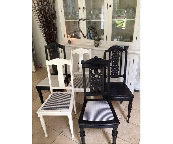 Spisebordsstol, Træ, Smukke gamle stole med patina ...