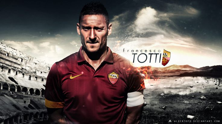 Francesco Totti Wallpaper 2014-15 (AS Roma) by AlbertGFX.deviantart.com on @DeviantArt