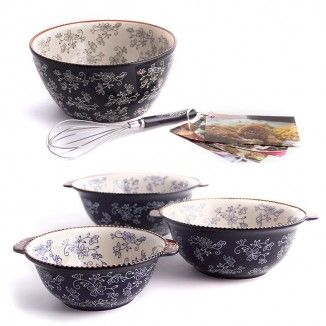 temp-tations® Floral Lace Nesting & Mixing Bowl Set $69.24