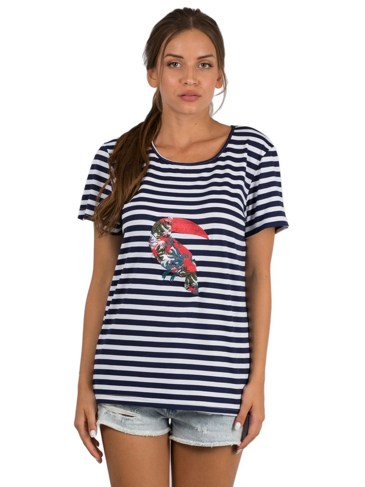 Striped T-shirt Exotic Toucan