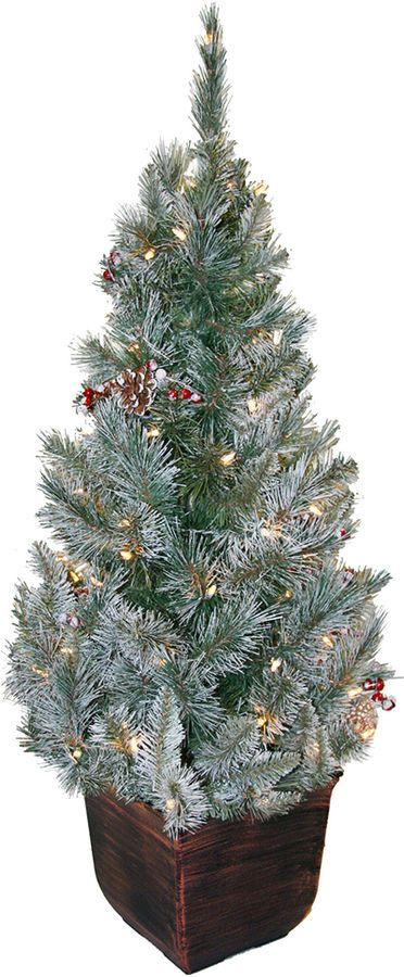 JCPenney General Foam Plastics 4' Pre-Lit Potted Christmas Tree