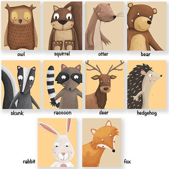 Láminas animales del bosque imprimibles. Archivos por Watotokids