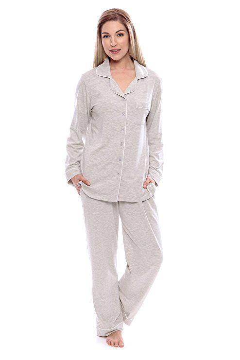 4a20aa9698 Women s Button-Up Long Sleeve Pajamas - Sleepwear set by Texere  (Classicomfort)