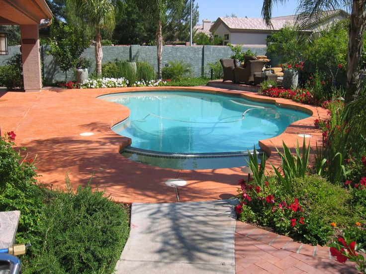 Painted concrete around pool color eclipse painting - Swimming pool paint for concrete pools ...