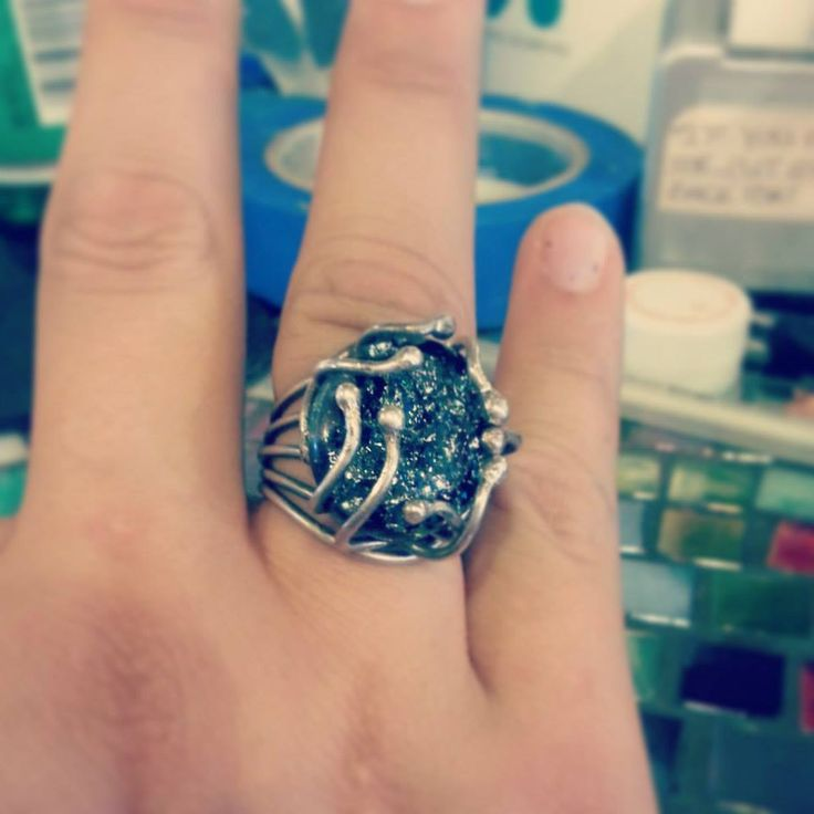 Cabochon prong ring! #HandsOnJewelry #HandsOnArtStudio #Handsondoorcty