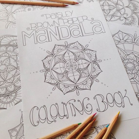 Mandala Colouring Book 10 Pages by Paisley and Brown Paper