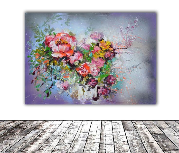 Buy Haiku - Floral Abstract -70x50x2 cm cm, Modern Ready to Hang Painting - Flower Acrylics Painting, Acrylic painting by Soos Roxana Gabriela on Artfinder. Discover thousands of other original paintings, prints, sculptures and photography from independent artists.