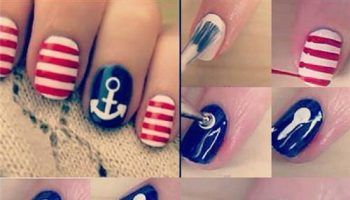 Nautical Nail Art Tutorial