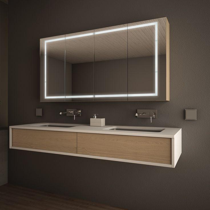 die besten 25 badezimmer spiegelschrank mit beleuchtung. Black Bedroom Furniture Sets. Home Design Ideas