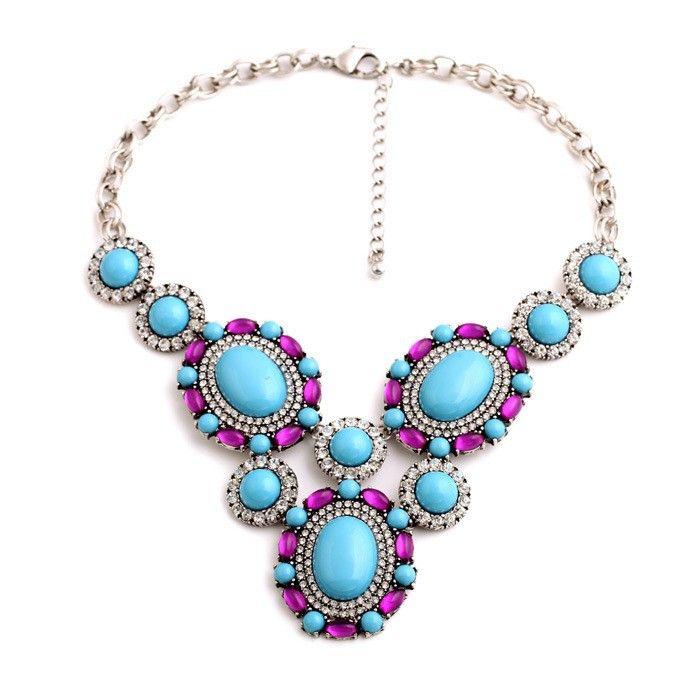 Qdsj 5 личность роскошный синий кристалл ожерелья летние подарки для женщин кристалл 18 К позолоченные ожерелья высокое качество ювелирных изделий, принадлежащий категории Колье и относящийся к Ювелирные изделия на сайте AliExpress.com | Alibaba Group