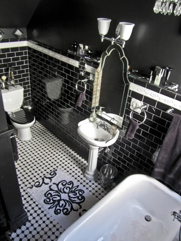 Gothic Glam - Bathroom Tiles for Every Budget and Design Style on HGTV