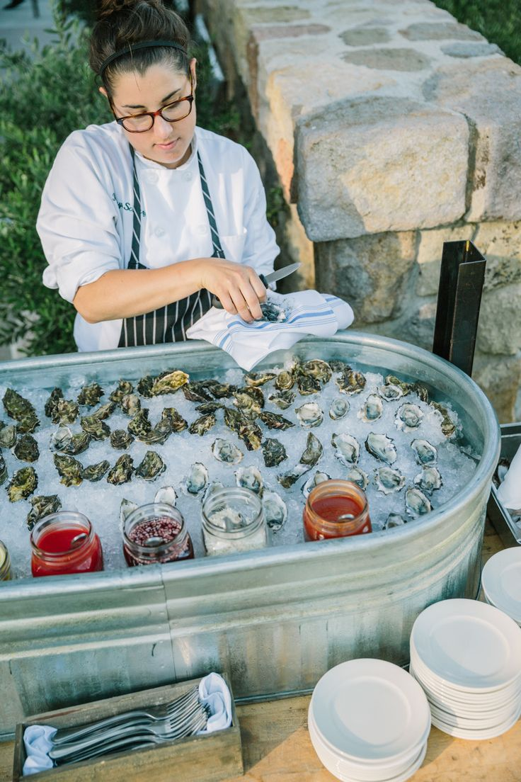 #oysters Photography: Matt Edge Wedding Photography - www.mattedgeweddings.com Read More: http://www.stylemepretty.com/2014/11/15/casual-st-helena-farm-to-table-wedding/