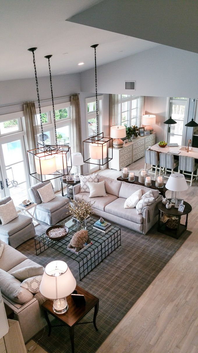 Two Couches And Two Chairs Coffee Table Tour Of The HGTV Dream Home 2016    In My Own Style. Find This Pin And More On Open Floor Plan Decorating ...