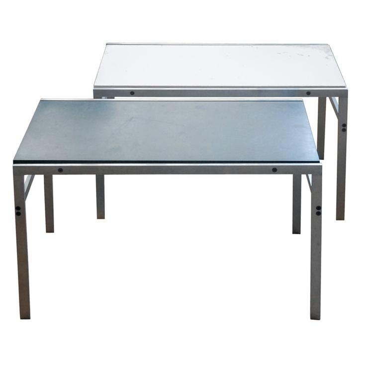 Pair of Fabricius & Kastholm Sidetables model bo-554. Designed for bo-ex furniture, 1963.