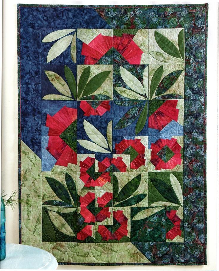 Pohutukawa Wall Hanging Designed by Mary Metcalf.