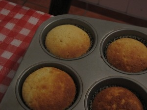And done! Rich Vanilla cupcakes...