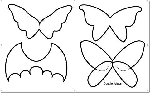 C mo hacer alas para disfraz de cualquier clase - Murcielago para imprimir ...