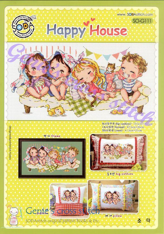 SODAstitch Happy House  Cross stitch pattern by GeniesCrossstitch