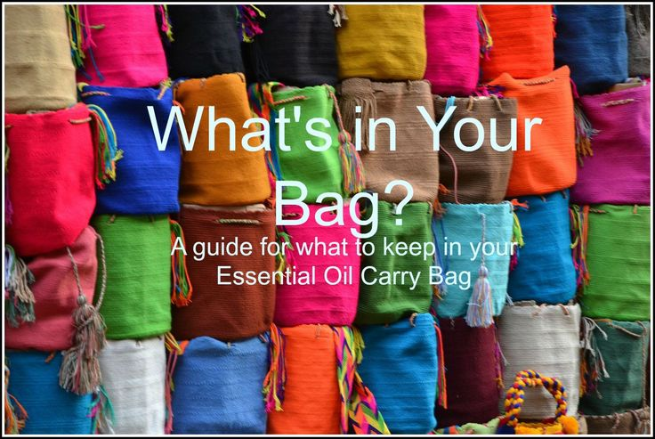 #essentialoils to carry in your bag when your out and about!