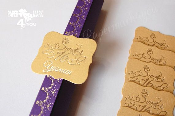 Sweet Sixteen Gold/Silver Shinny Foil Scroll Box_Paper Box for