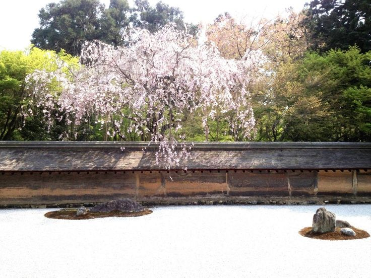 One of the must see Kyoto temples - Ryoan-ji Temple. Home of the famed zen garden that makes you think while you enjoy the serenity.