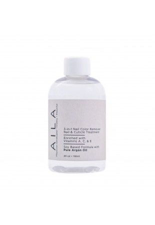 AILA Cosmetics non-toxic acetone free nail polish remover   Available exclusively about BeauTeaBar