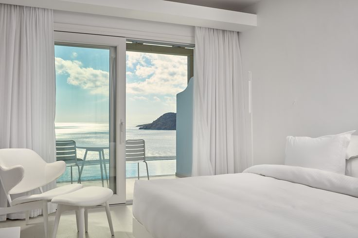 Breathtaking views of the #Aegean from the comfort of your own bed ! #Discover #View #From #Room