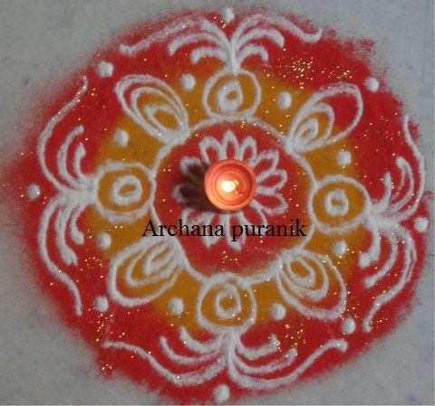 Rangoli - the colors and the glitter make it so pretty