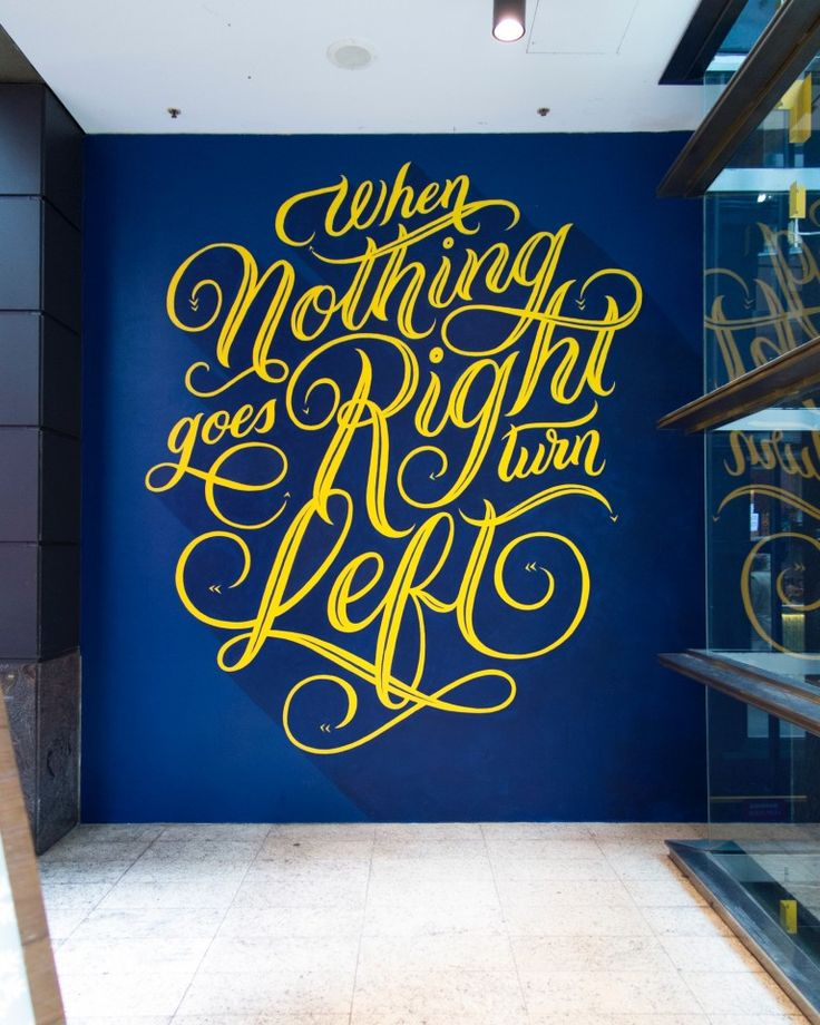 566 best quotes typography images on pinterest murals for Mural lettering