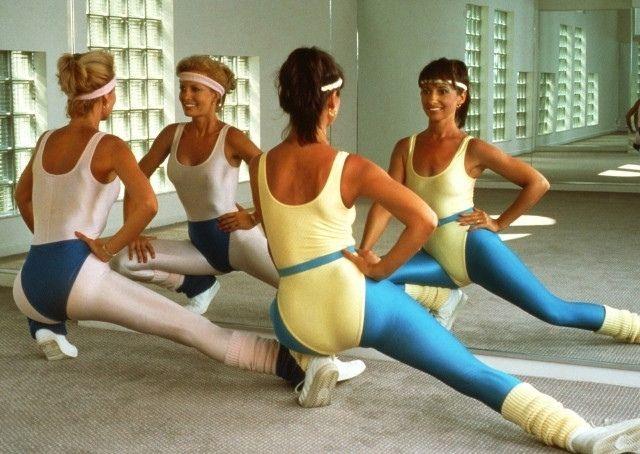 80's aerobic costume