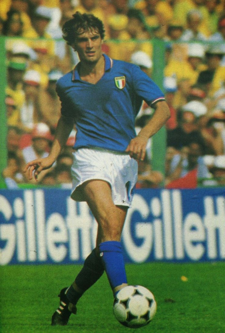 Marco Tardelli of Italy in action at the 1982 World Cup Finals.