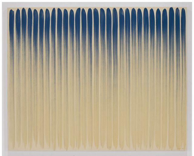 "Lee Ufan oil on canvas, 71-1/2"" x 89-3/8"" (181.6 cm x 227 cm), 1974"