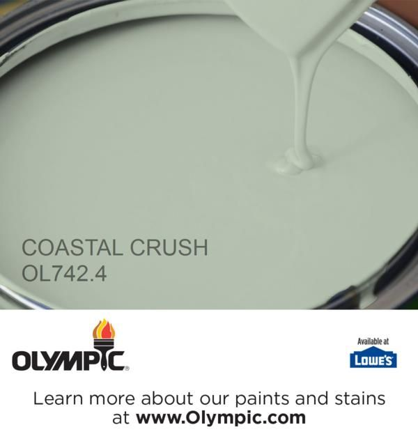 COASTAL CRUSH OL742.4 is a part of the greens collection by Olympic® Paint.
