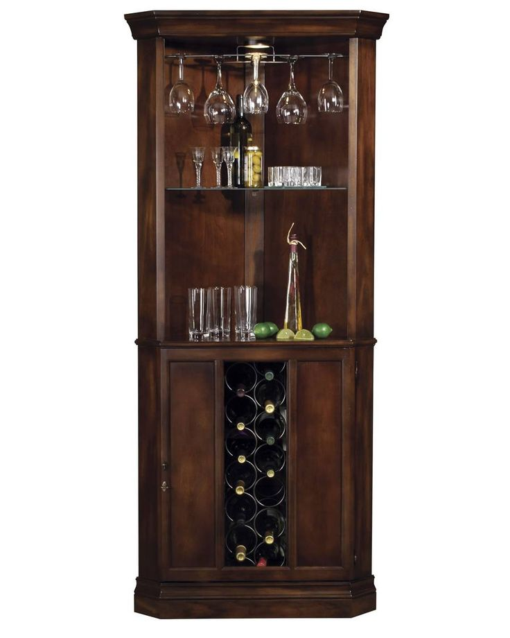 690000 Howard Miller Cherry traditional corner wine cabinet PIEDMONT - This  traditionally styled Wine u0026 Bar