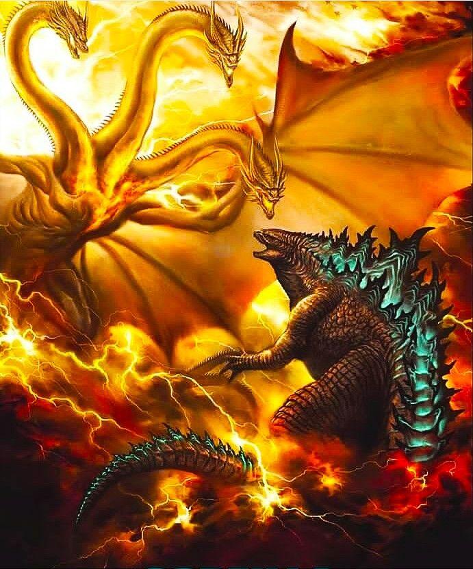 Godzilla Vs Ghidorah Original Godzilla Kaiju Monsters Godzilla Vs King Ghidorah
