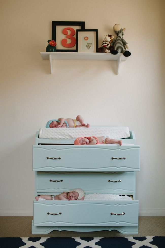 Orange County Newborn Triplets Photography  Remy top, Avery middle, Sloane