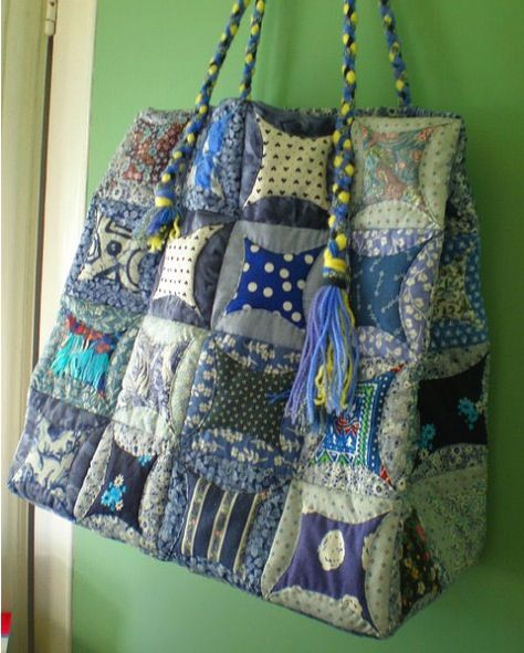 Lovely folded Japanese patchwork bag - ver summery