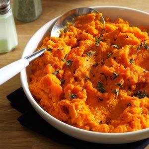 Carrot Puree 2 lbs of carrots 4 garlic cloves 2 shallots 1 tsp thyme 1/2 tsp sweet basil 1/2 tsp salt 1 T. olive oil