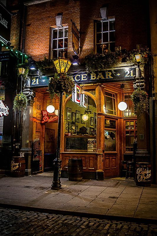 Palace Bar Pub, Dublin, Ireland. If you're upstairs, tell…