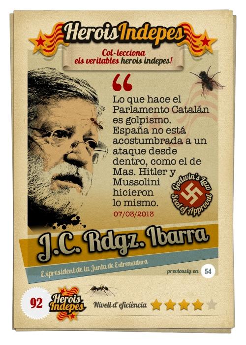 """#HeroisIndepes 92. Juan Carlos Rodríguez Ibarra: """"Lo que hace el Parlamento Catalán es golpismo. España no está acostumbrada a un ataque desde dentro, como el de Mas. Hitler y Mussolini hicieron lo mismo."""""""